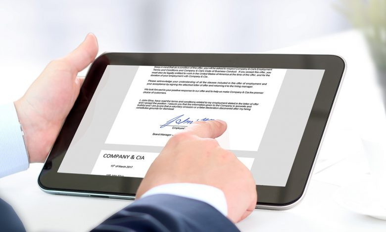 How to set up an electronic signature?