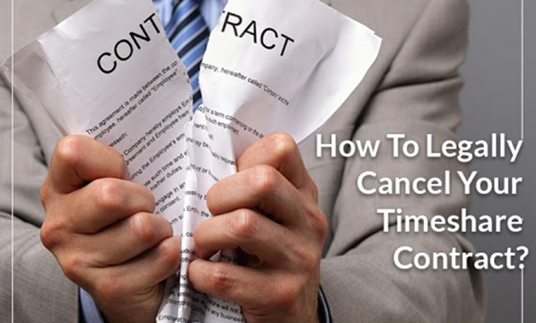 How to cancel your timeshare contract without losing money?